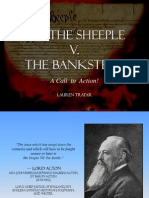 We, The Sheeple vs. The Banksters SHORT version