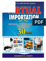 Virtual Importation Report With Practical 30 Days Step by Step Guide
