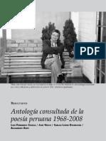 antología consultada de la poesía peruana