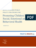 Promote Childrens Social Emotional and Behavioral Health