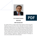 Mr.amitabh Chaudhry Profile