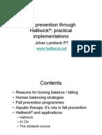 Fall prevention through  Halliwick ®