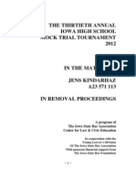 2012 Case Master - In the Matter of Jens Kinndarhaz