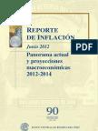 Reporte de Inflacion Junio 2012