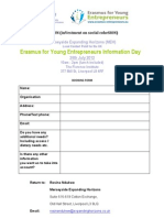 Erasmus for Young Entrepreneurs Information Day Booking Form[1]