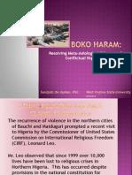 Boko Haram as MetaAxiological Dilemma, WVSU Faculty Lecture 2012