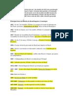 PRINCIPAIS FATOS DO BRASIL IMPÉRIO