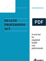 Health Professions Act