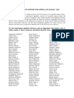 STATEMENT OF SUPPORT FOR APPELLATE JUDGES - 2012