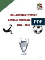 Fantasy Football 2012 - 2013
