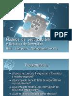 Modelos de Seguridad Informática y Retorno de Inversión