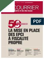 Les EPCI à fiscalité propre, Courrier des maires, 07/2012