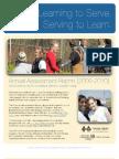 2009-2010 Annual Assessment   Thayne Center for Service & Learning