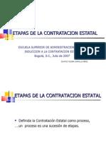 etapas de contratacion estatal colombia