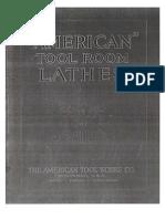 Atw Toolroom Lathes 1926 Circular 4a