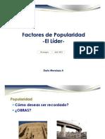 Dario Mendoza Factores de Popularidad