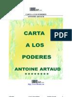 Antoine Artaud - Carta a Los Poderes