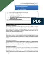 GUÍA DE PROGRAMACIÓN 1 - 2