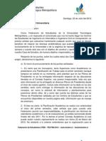 Respuesta a carta emanada por el  Ceinf - Ceicci