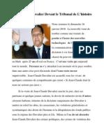 Jean Claude Duvalier Devant Le Tribunal de L'Histoire  Par Ives Isidor