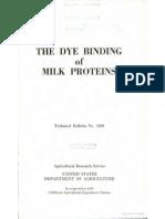The Dye Binding of Milk Protein