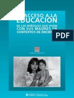 Acceso_educacion_niños que viven con sus madres argentina