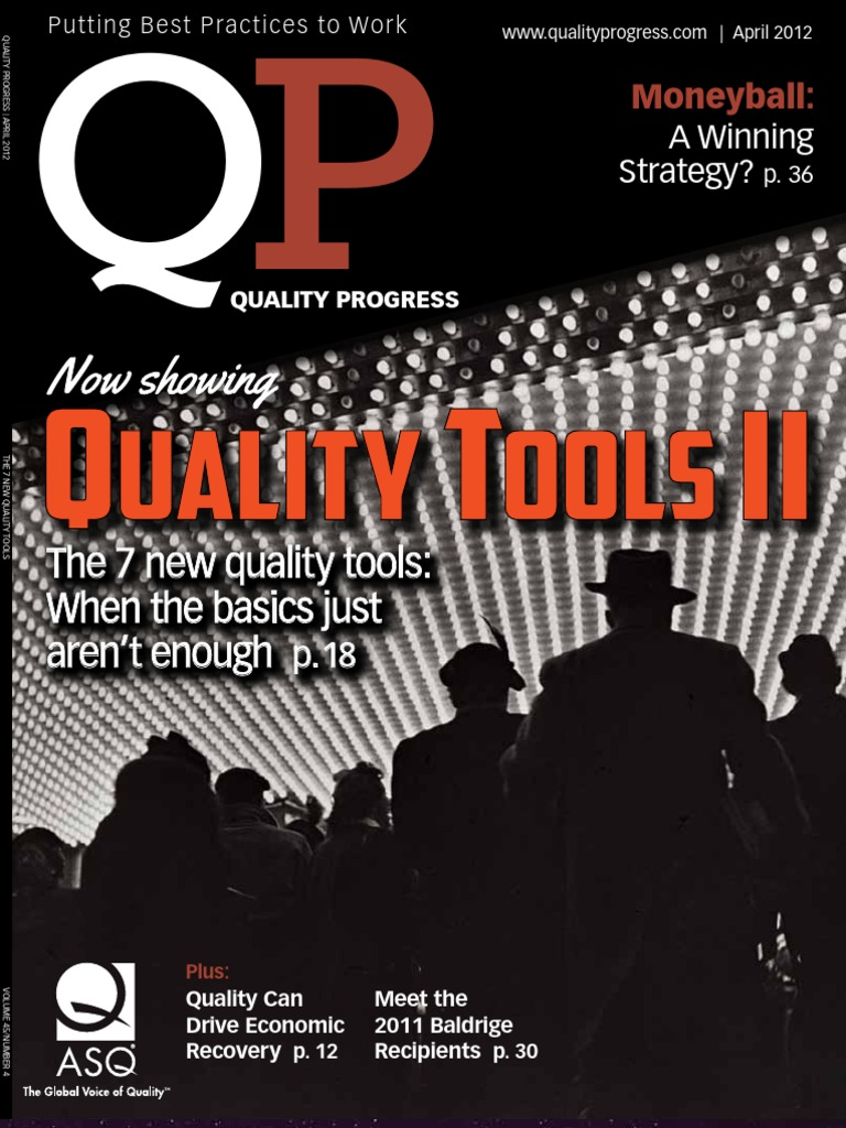 quality progressapril 2012 thought quality management
