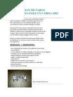 Instalacion de Faros Auxiliares Para Un Corsa 2003