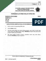 Percubaan Upsr Johor 2012 - Bahasa Inggeris Kertas 1