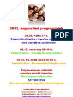 2012. augusztusi programjaink