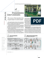 Analysis of Measured Transmission Line Constants
