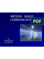Meteor Burst Communication - Techinal seminar for electronics students prepared by ajai