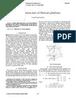 A Calibration Test of Stewart Platform
