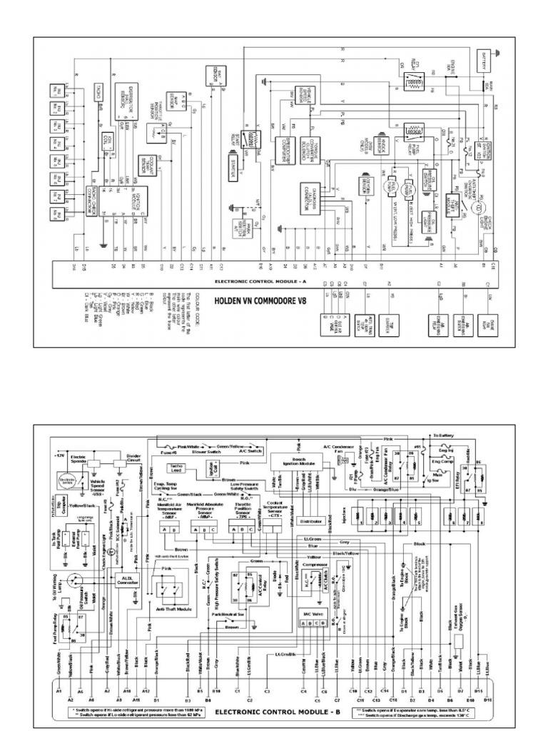 holden vn commodore v8 electronic control module wiring diagram rh scribd com vn v8 distributor wiring diagram vn vp v8 wiring diagram