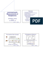 Head Phone Measurements