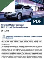 Hyundai Motor Company.1H2012 Earnings Presentation