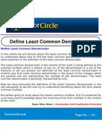 Define Least Common Denominator