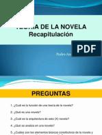 TEORÍA DE LA NOVELA recapitulación balance