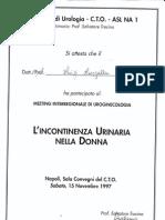 Ginecologo Luigi Langella - L'Incontinenza Urinaria Nella Donna