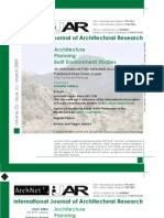 International Journal of Architectural Research