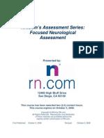 Focused Neurological Assessment
