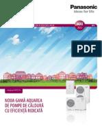 Pompe de Caldura Aer-Apa Panasonic Aquarea 2012