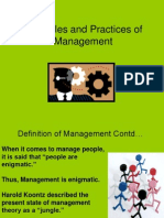 Principles and Practices of Management Unit I