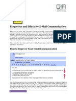 E-Mail Etiquettes and Ethics