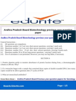 Andhra Pradesh Board Biotechnology Previous Year Question Paper