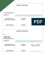 Contoh Kwitansi Excel Gratis