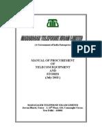 MTNL-Procurement Manual 03-7-2003