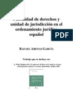 Pluralidad de Derechos y Unidad de Jurisdiccion