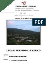 Proyecto de Visita Al Centro Poblado de Perico Pertenece a (Region Cajamarca-provincia de San Ignacio-distrito de Chirinos)