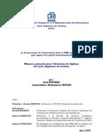 Le financement de l'innovation dans la PME marocaine .Apport du capital investissement